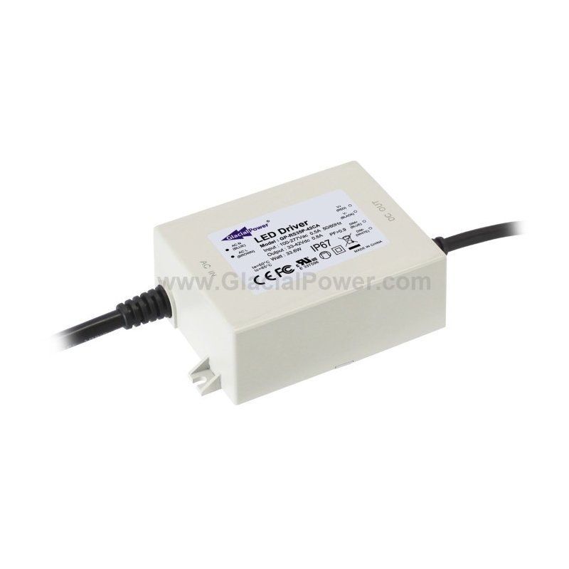 RS35P-24CA  RS35P-24CA Alimentatore LED GlacialPower - CC - 35W / 1400mA   Glacial Power  Alimentatori LED