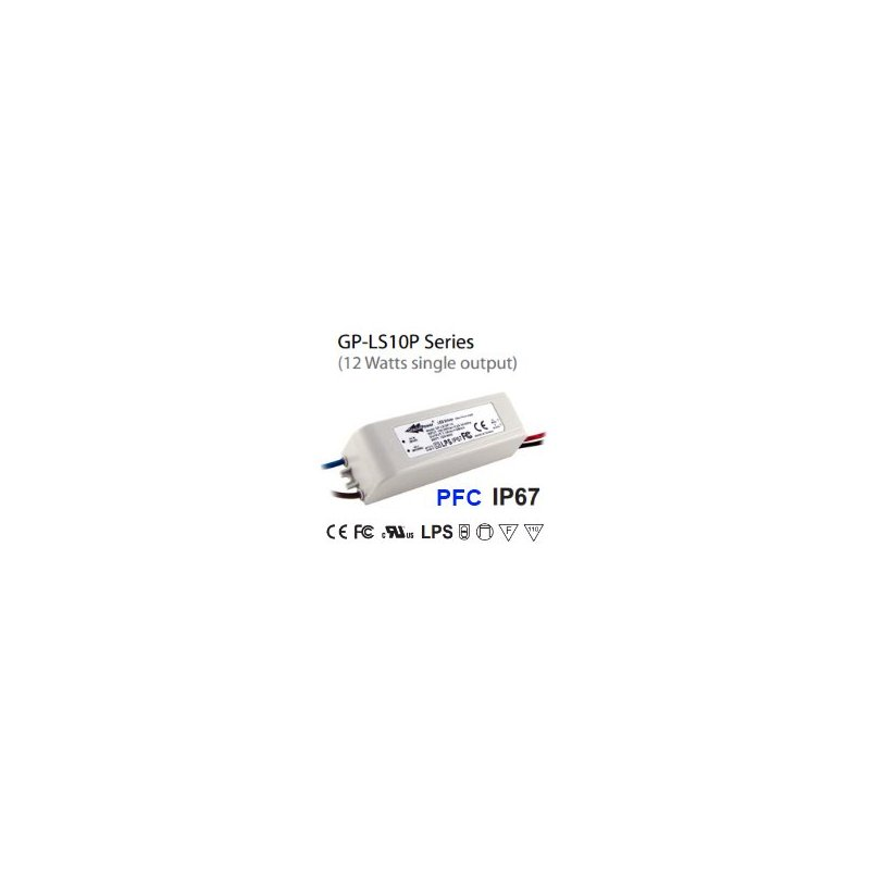 LS10P-17A Glacial Power LS10P-17A - Alimentatore LED Glacial Power - CC - 12W / 680mA Alimentatori LED