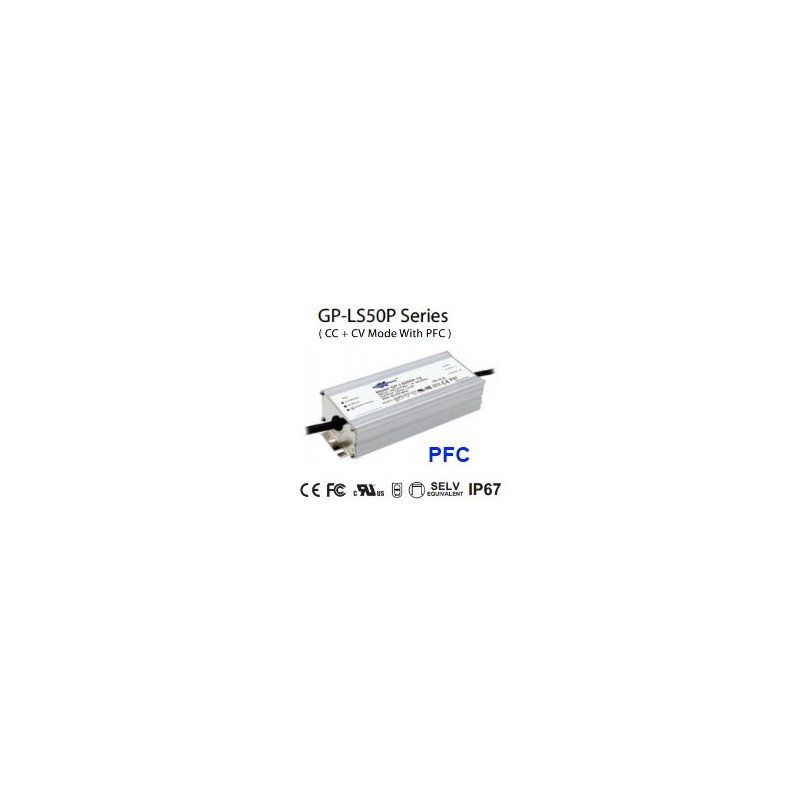 LS050P-36  LS050P-36 Alimentatore LED Glacial Power - CV/CC - 50W / 36V / 1400mA   Glacial Power  Alimentatori LED