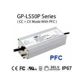 LS050P-48 Alimentatore LED Glacial Power - CV/CC - 50W / 48V / 1050mA