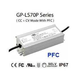 LS070P-54 Alimentatore LED Glacial Power - CV/CC - 70W / 54V / 1400mA