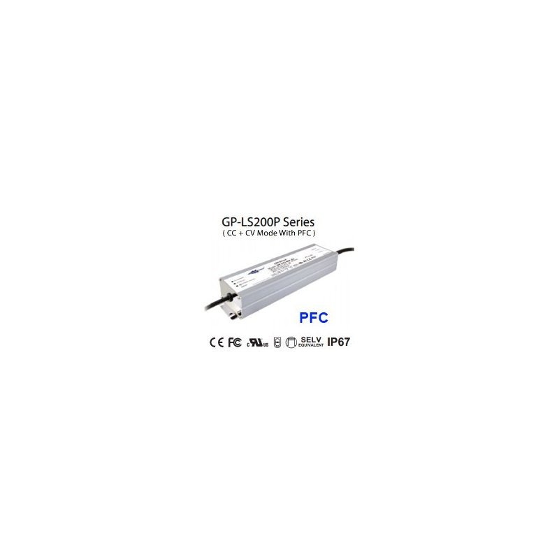 LS200P-48 Glacial Power LS200P-48 Alimentatore LED Glacial Power - CV/CC - 200W / 48V / 4100mA Alimentatori LED