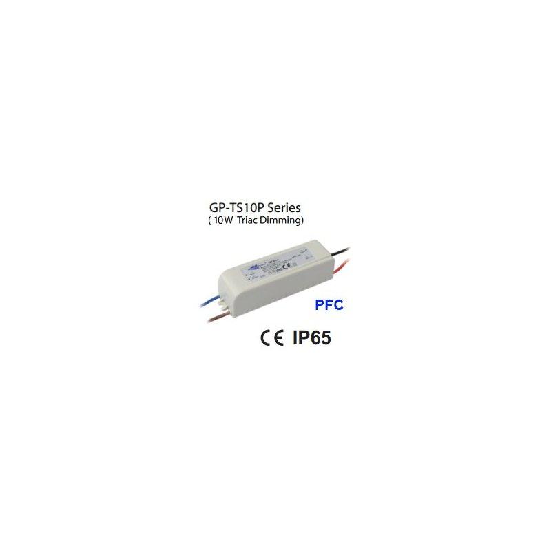 TS10P-30H Glacial Power TS10P-30H - Alimentatore LED Glacial Power - CC - 10W / 350mA Alimentatori LED