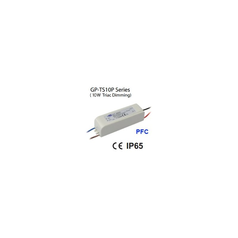 TS10P-21H Glacial Power TS10P-21H - Alimentatore LED Glacial Power - CC - 10W / 500mA Alimentatori LED