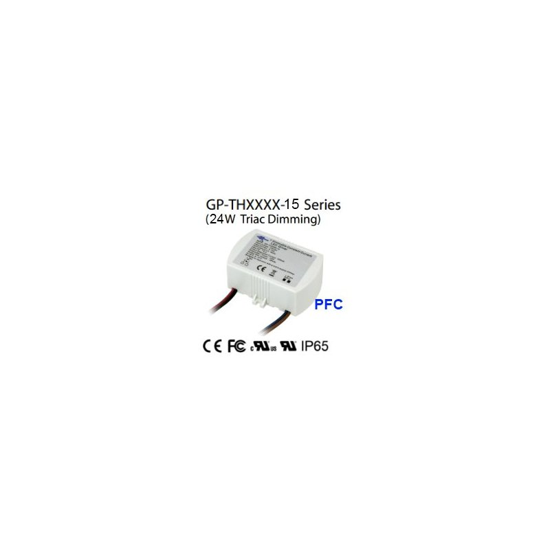 TH5048-15  TH5048-15 - Alimentatore LED Glacial Power - CC - 24W / 500mA   Glacial Power  Alimentatori LED