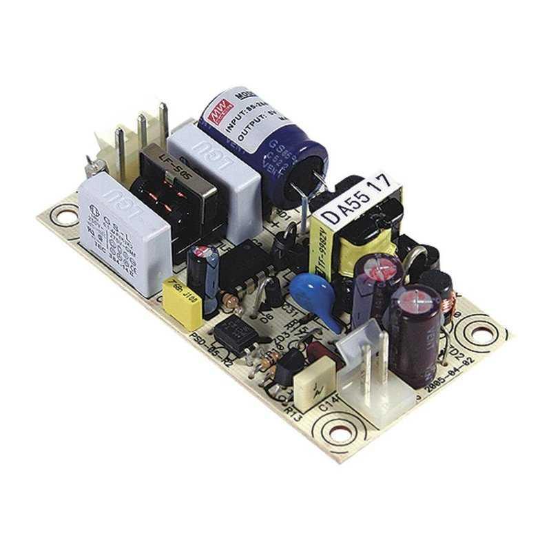 PS-05-48 MeanWell PS-05-48 - Alimentatore Meanwell - Open F. 5W 48V - Input 100-240 VAC Alimentatori Automazione