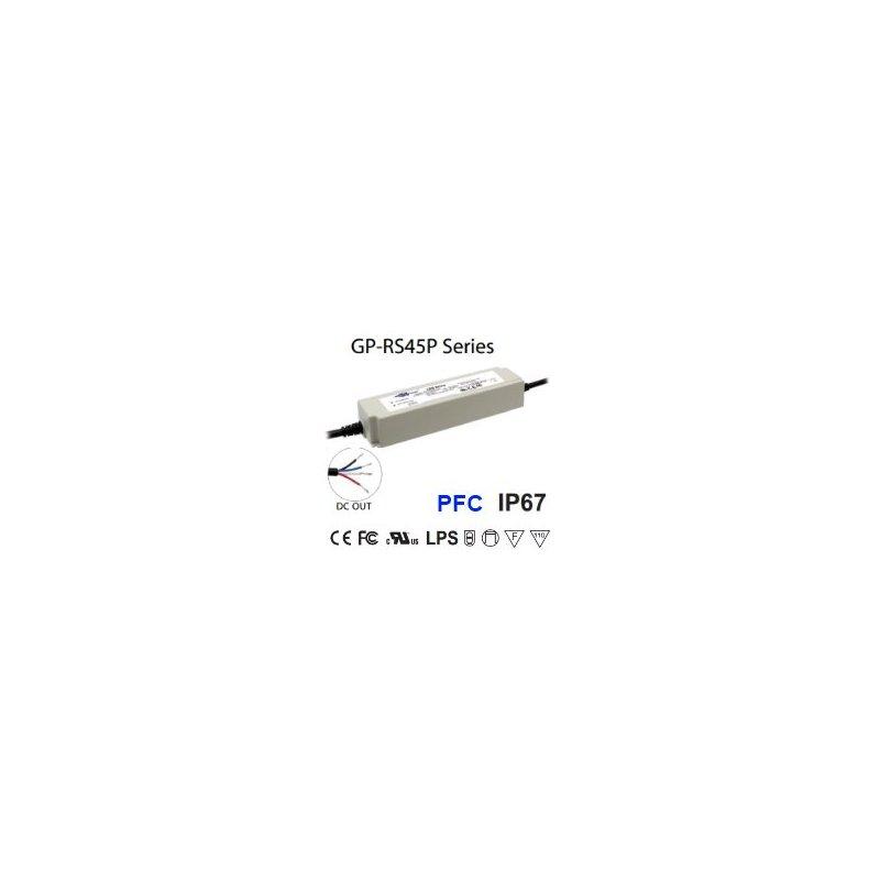 RS45P-24C  RS45P-24C Alimentatore LED Glacial Power - CV/CC - 45W / 24V / 1800mA   Glacial Power  Alimentatori LED