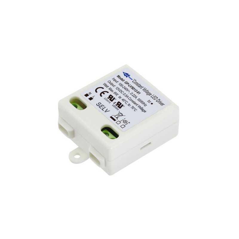 LV5012-01  LV5012-01 Alimentatore LED Glacial Power - CV - 6W / 12V   Glacial Power  Alimentatori LED