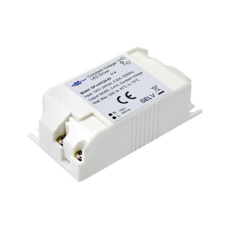 LV4124-03  LV4124-03 Alimentatore LED Glacial Power - CV - 10W / 24V   Glacial Power  Alimentatori LED