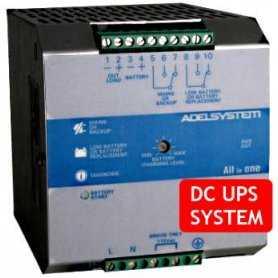 CBI2410A  CBI2410A- DC UPS System Evoluto Adelsystem - 240W / 24V / 10A  Adelsystem  Caricabatterie