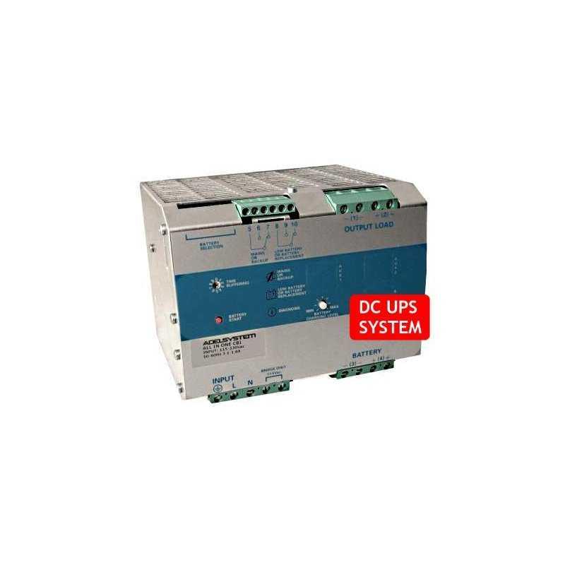 CBI4810A  CBI4810A- DC UPS System Evoluto Adelsystem - 480W / 48V / 10A  Adelsystem  Caricabatterie