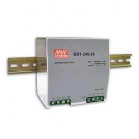 DRT-240-48  DRT-240-48 - Alimentatore Meanwell - Din Rail 240W 48V - Ingresso 380 VAC  MeanWell  Alimentatori Guida DIN