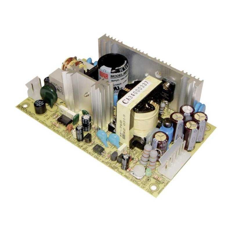 MPS-65-24  MPS-65-24 - Alimentatore Meanwell - Aperto - 65W 24V - Ingresso 100-240 VAC  MeanWell  Alimentatori Automazione