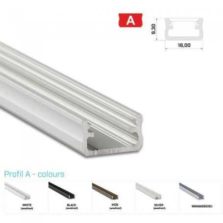Profilo Alluminio LED MODELLO A - Serie Luminos