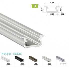 Profilo Alluminio LED MODELLO B SERIE LUMINOS