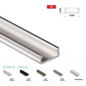 770.PAL.D  Profilo Alluminio LED Piatto da sottopensile - Modello D  Profili Alluminio