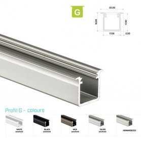 770.PAL.G  Profilo Alluminio LED da Incasso per legno - Modello G  Profili Alluminio