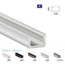 770.PAL.X Profilo Alluminio LED MODELLO X - Serie Luminos Profili Alluminio