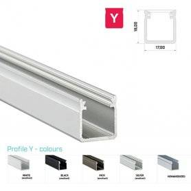 Profilo Alluminio LED MODELLO Y SERIE LUMINOS