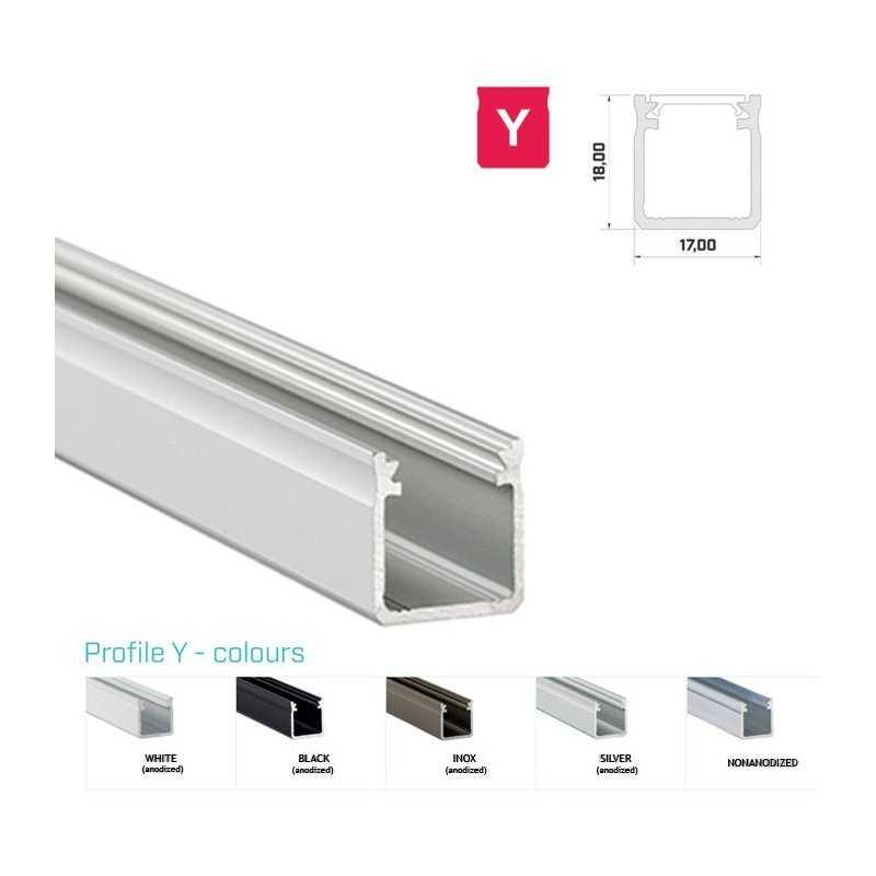 770.PAL.Y  Profilo Alluminio LED Piatto da sottopensile - Modello Y  Profili Alluminio