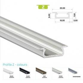 770.PAL.Z  Profilo Alluminio LED da Incasso per Legno - Modello Z  Profili Alluminio