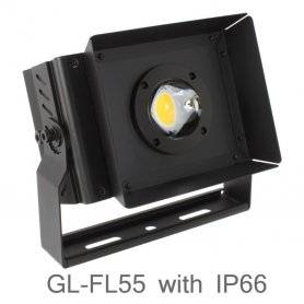 GL-FL55  Faro proiettore LED 55W DA ESTERNO IP66 da 3000K a 5000K 6300 Lumen Max  Glacial Light  Proiettori Led per esterno