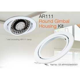 CE-AR11I000WS1001  CE-AR11I000WS0001 Kit per montaggio compatibile con AR111  Glacial Power  Accessori Illuminazione