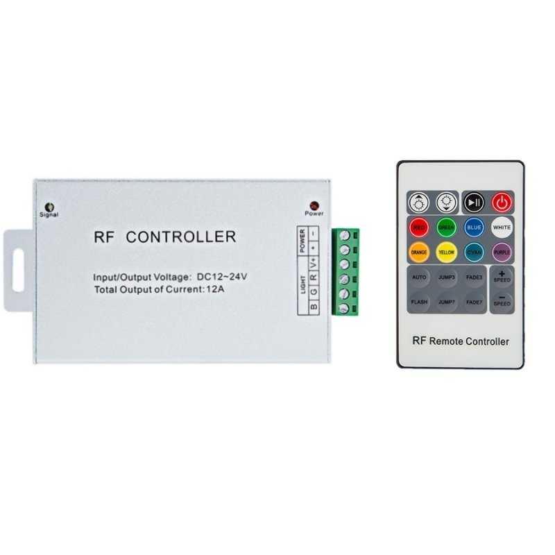 CONTROLLER RGB - Telecomando RF - 3CANALI   IN 12V~24V   288W MAX