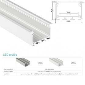 770.PAL.INZO  Profilo Alluminio LED da Incasso nel cartongesso - Modello INZO  Profili Alluminio