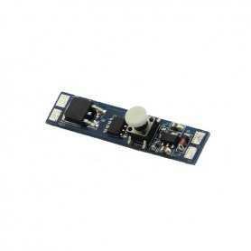 1310.BS001.DIM | Dimmer Mini Pulsante da barra led - in. 12V~24V - 192W max - Dim. + On/Off