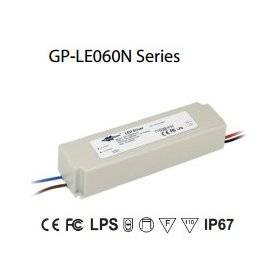 LE060N-42C  LE060N-42C - Alimentatore LED Glacial Power - CC - 60W / 1400mA   Glacial Power  Alimentatori LED