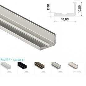 Profilo Alluminio LED MODELLO F - Serie Luminos , Profili Alluminio , Luminos Light