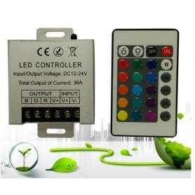 CONTROLLER RGB - Telecomando IR - 3CANALI | IN 12V~24V | 360W MAX