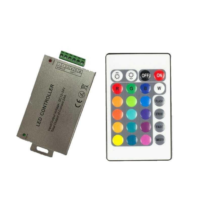 CONTROLLER RGB - Telecomando IR - 3CANALI | IN 12V~24V | 576W MAX