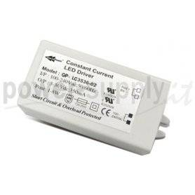 LC3512-02  LC3512-02 - Alimentatore LED Glacial Power - CC - 3W / 350mA   Glacial Power  Alimentatori LED
