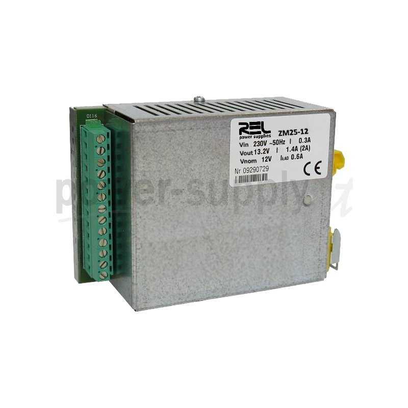 ZM50-24  ZM50-24- DC UPS System Evoluto REL Power - 55W / 24V / 2A  REL Power  Caricabatterie