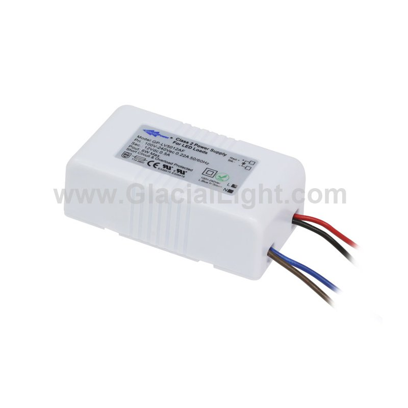 LV5012AF  LV5012AF Alimentatore LED GlacialPower - CV - 6W / 12V   Glacial Power  Alimentatori LED
