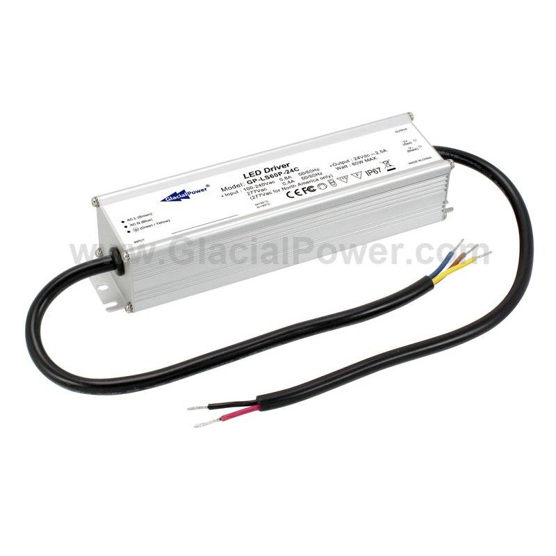LS60P-12C  LS60P-12C Alimentatore LED GlacialPower - CV/CC - 60W / 12V / 4200mA   Glacial Power  Alimentatori LED