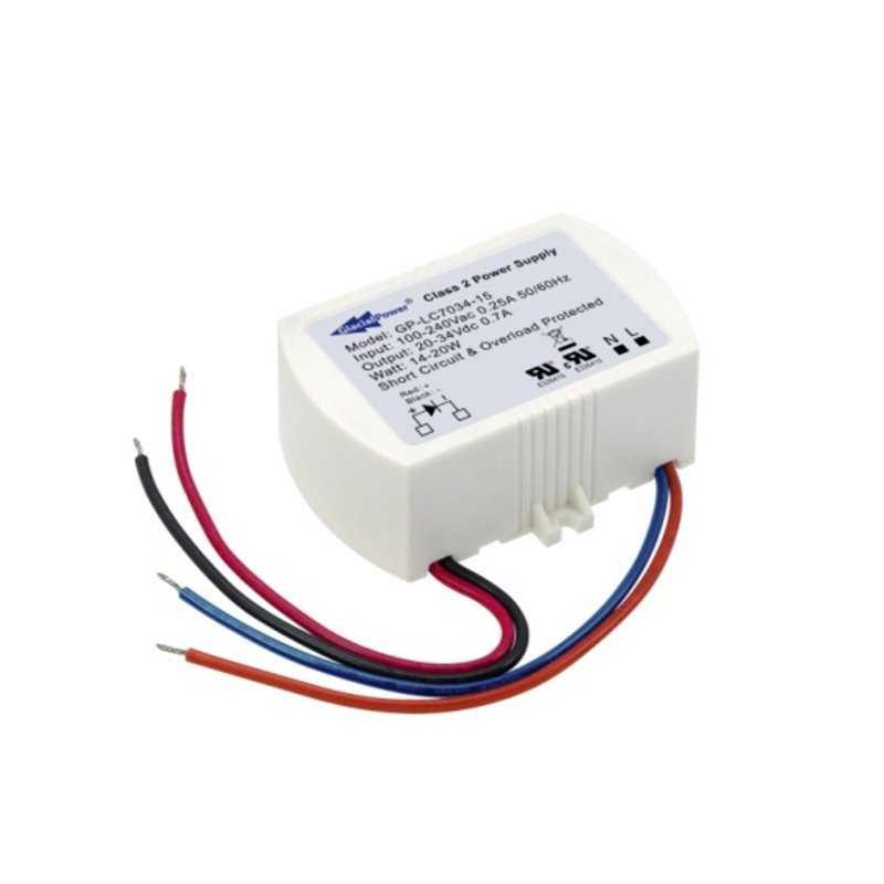 LC3554-15  LC3554-15 - Alimentatore LED GlacialPower - CC - 16W / 350mA   Glacial Power  Alimentatori LED