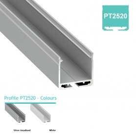 Profilo Alluminio LED MODELLO PT2520 - Serie Luminos , Profili Alluminio , Luminos Light