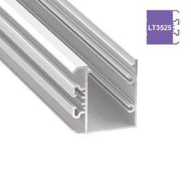 770.PAL.LT3525  Profilo Alluminio LED Piatto da parete - Modello LT3525  Profili Alluminio