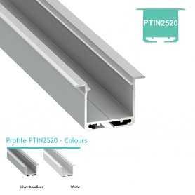770.PAL.PTIN2520  Profilo Alluminio LED da Incasso nel cartongesso - Modello PTIN2520  Profili Alluminio