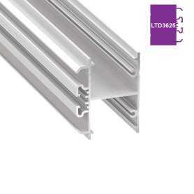 770.PAL.LTD3625  Profilo Alluminio LED Piatto da parete - Modello LTD3625  Profili Alluminio