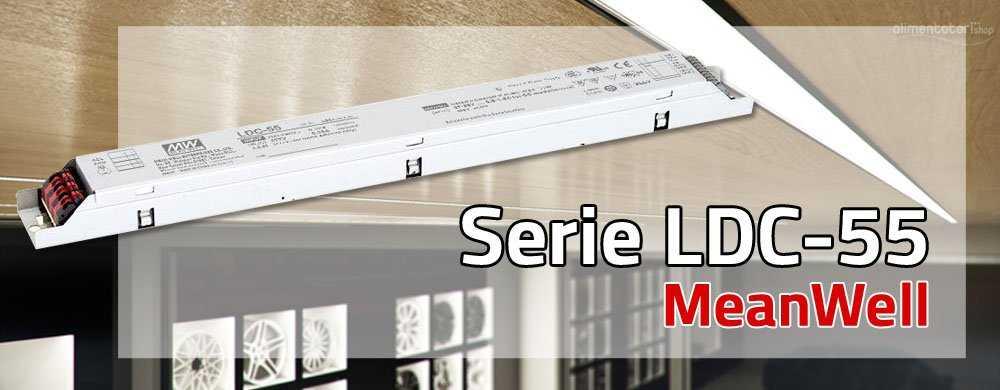 Nuova Serie di Alimentatori LED MeanWell, LDC-55, Dimmerabile e con PFC