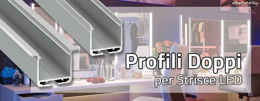 Nuovi Profili Doppi in Alluminio PT2520 & PTIN2520 per Strisce LED