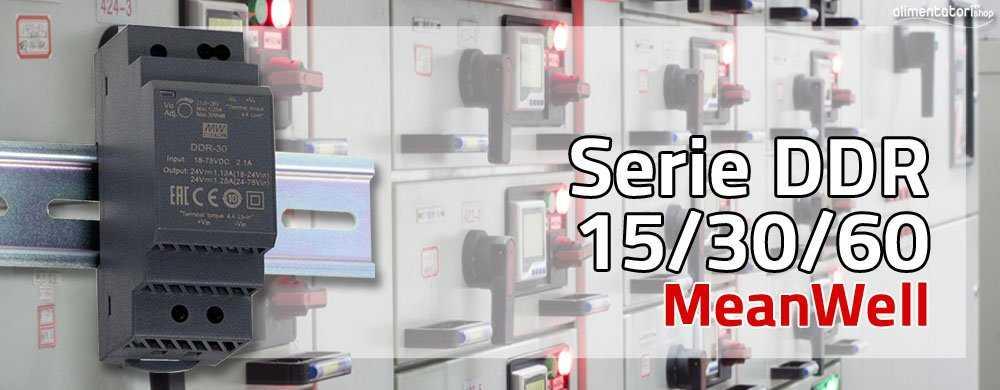 Nuove Serie DDR-15/30/60 di Convertitori DC/DC MeanWell