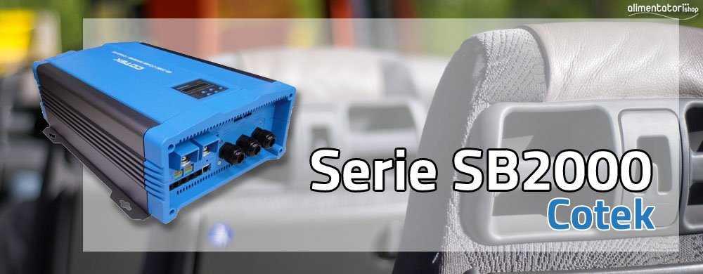 Inverter SB2000 Cotek Caricabatterie COMBI 2000W per Impianti ad Isola